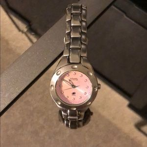 Vintage Fossil Watch ( Women's) Pearlescent face
